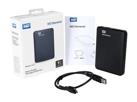 Wd Elements Portable Drive Usb 3 1tb Black T1301 wd 1tb elements portable drive usb 3 0 model