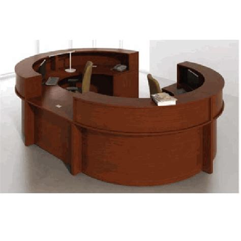 Reception Desk Workstation Circular 108 Quot X 156 Quot Circular Reception Desk