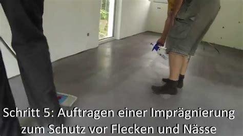 estrich versiegeln wohnraum einf 228 rben estrich und beton by color ink