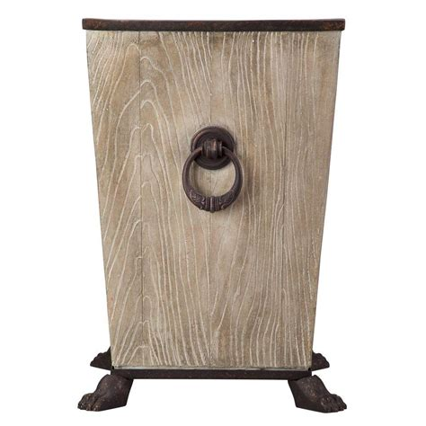 L Post Planter by Emsco 8 5 In Resin Brown Post Planter For Vertical Posts