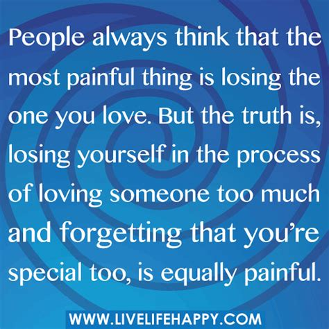 people      painful   losing  life happy