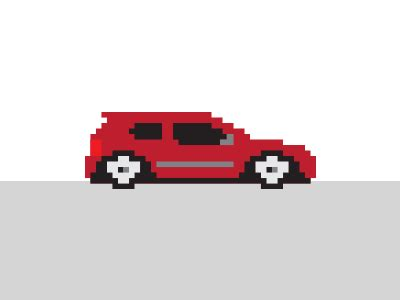 pixel car transparent pixel car cruisin by staton hysell dribbble