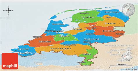political map of the netherlands political panoramic map of netherlands lighten