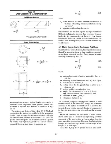 section modulus of round bar aisc torsion guide
