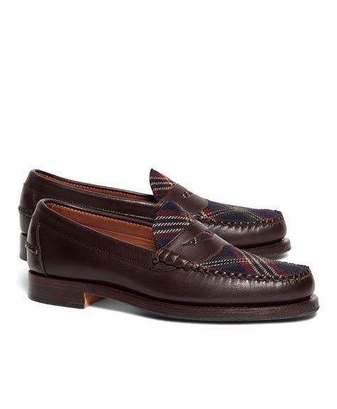 brothers loafer brothers signature tartan loafers in brown