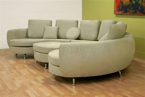 Half Moon Leather Sofa by Half Moon Shape Modern Sectional Sofa With Ottoman
