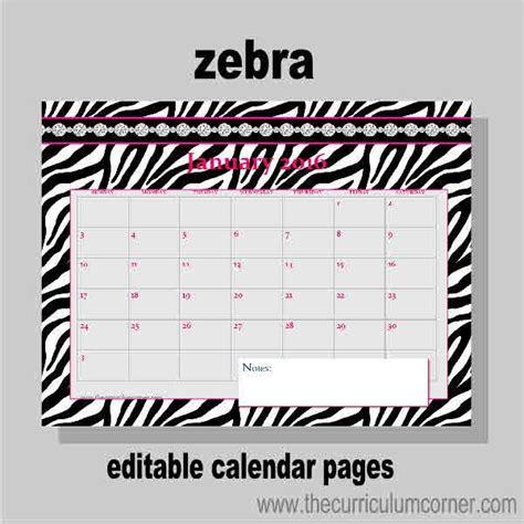 Zebra Printable Calendar | 1000 images about calendar on pinterest free printable