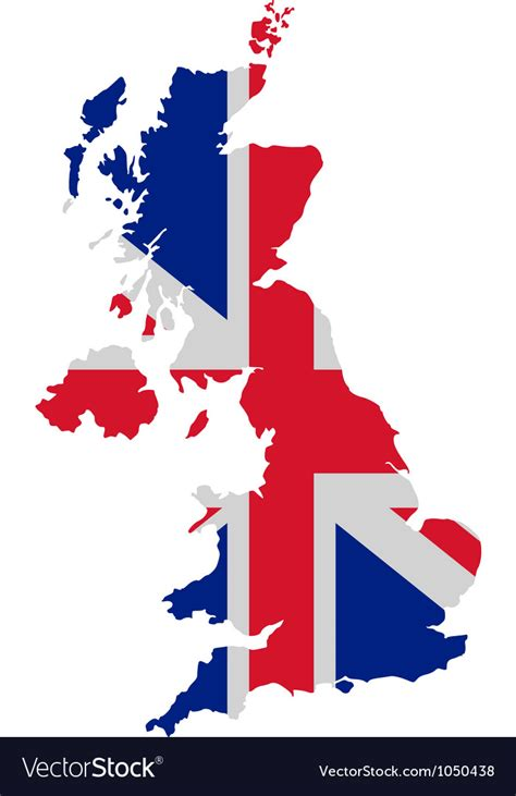 vector map of the uk royalty free stock images image 4213469 map and flag of united kingdom royalty free vector image