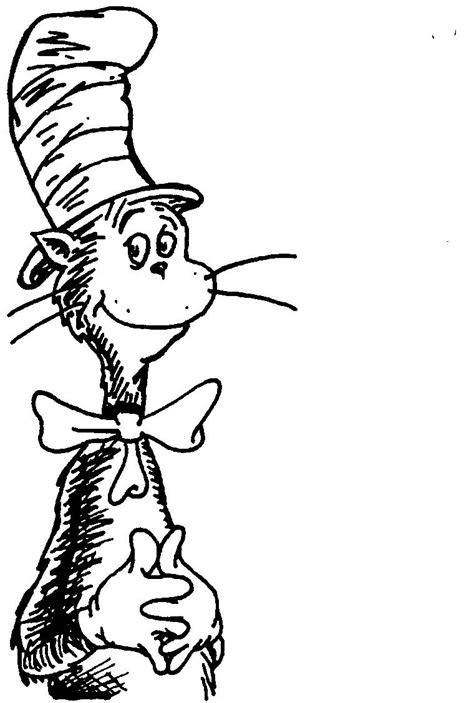 cat   hat coloring page coloring home
