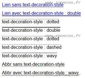 Text Decoration Style by Text Decoration Style Css Exemple De Code Zone Css
