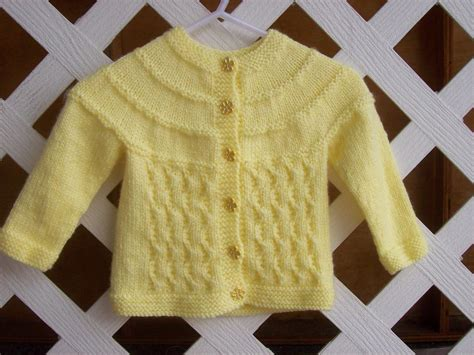 Baby Sweater Knitting Pattern A Knitting