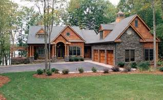 hillside cabin plans craftsman style hillside house plan family home plans