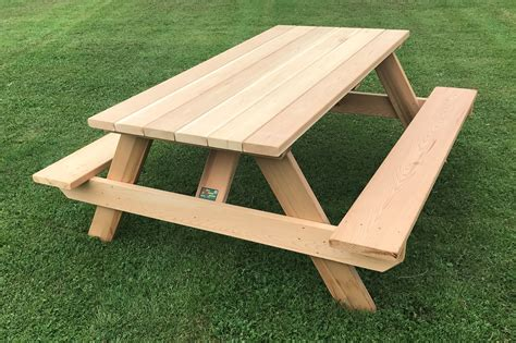classic  heavy duty wooden picnic table  home  business