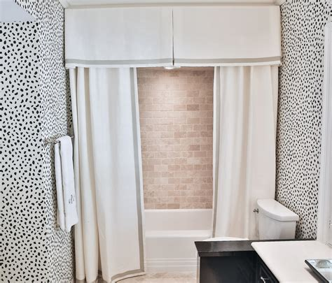 bathroom curtain valance design crush amy berry designs the glam pad