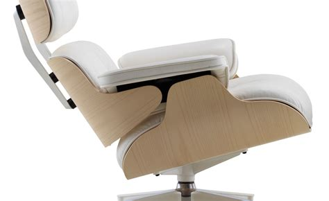 auzzie lounge chair and ottoman white ash eames 174 lounge chair ottoman hivemodern com