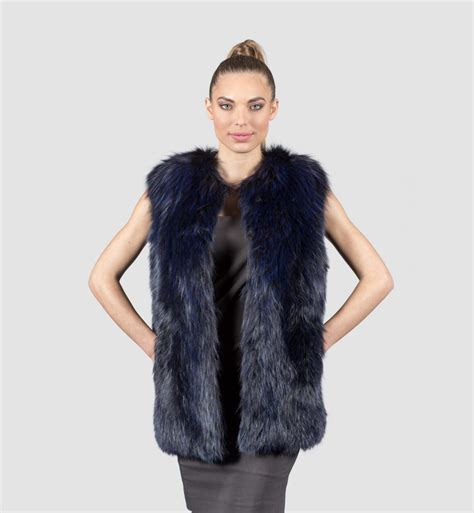 with fur vest rabbit fur vest with fox haute acorn