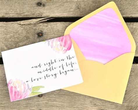 Ranch House Designs diy watercolor envelope liner and valentine card boxwood
