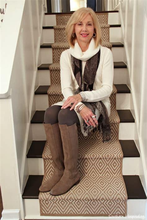 stylish guru over 50 pintrest fashion over 50 winter white sweater dress southern