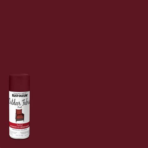 rust oleum  oz dark red outdoor fabric spray paint