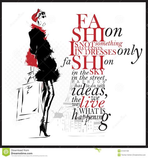 fashion illustration quotes fashion illustration with quote modern and white