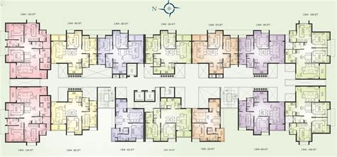 apartment layout presidency lifestyle 2 and 3 bedroom bhk flats