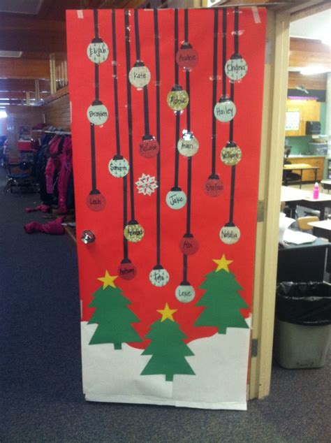 christmas teacher door decoration back to school