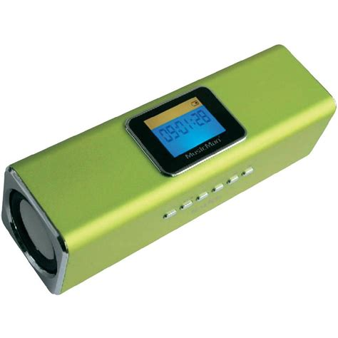 Mp3 Sd 02 Plastik Votre enceinte portable 6 w technaxx musicman ma display soundstation vert conrad fr