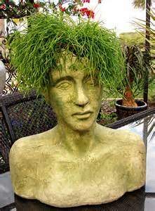 the empty nester a journey making my own head planters with hypertufa