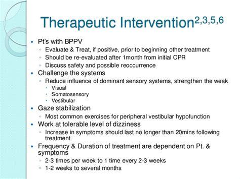 vestibular therapy exercises vestibular rehabilitation inservice