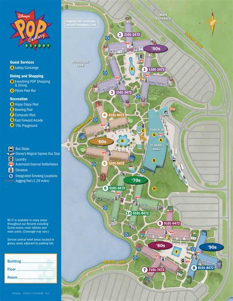 disney hotels map pop century resort map kennythepirate s guide to disney
