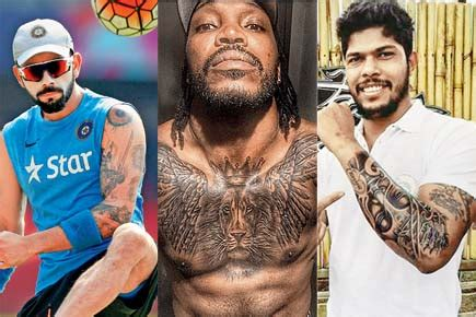 new tattoo of virat kohli photos these 7 ipl cricketers will bowl you over with
