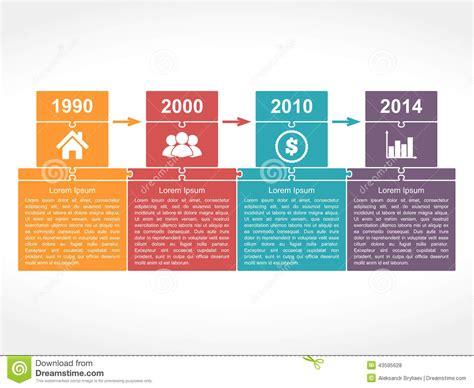 Timeline Design Template Stock Vector Image 43595628 Timeline Design Template