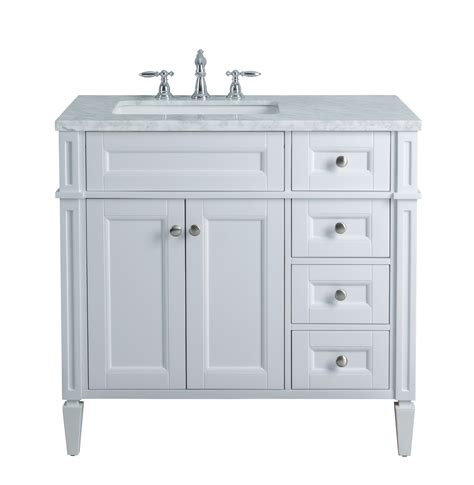 installing bathroom vanity cabinet stufurhome anastasia french 36 inches white single sink