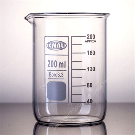 Beaker Glass 200ml glass beaker low form gg17 beakers with spout