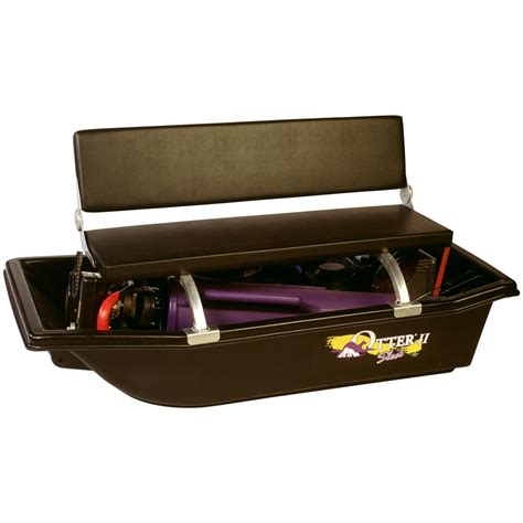 otter bench seat otter 174 sled bench seat 131836 ice fishing shelters sleds at sportsman s guide