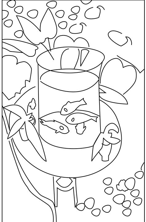 coloring book matisse s gold fish neo decadent