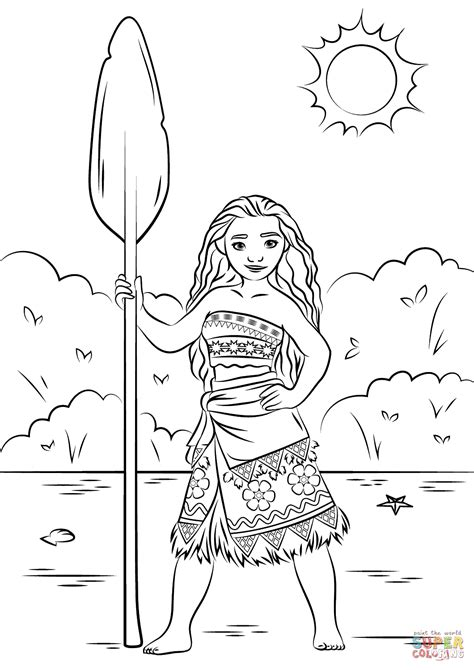 coloring page moana princess moana coloring page free printable coloring pages