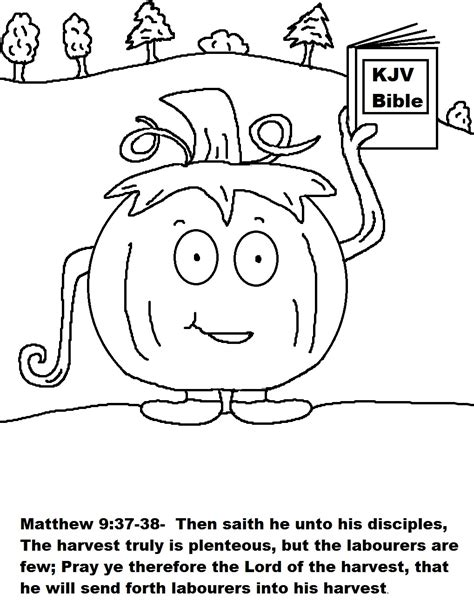 Pumpkin Coloring Pages For Church | church house collection blog pumpkin candy bag