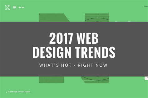 2017 website design trends web design trends for 2017 what s hot right now