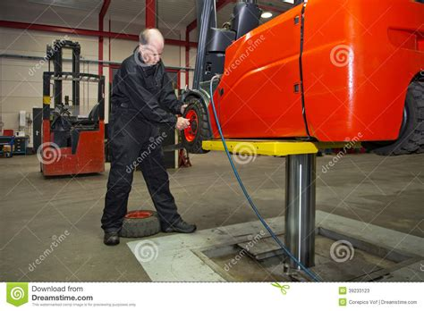 Forklift Technician by Forklift Maintenance Stock Photo Image 39233123