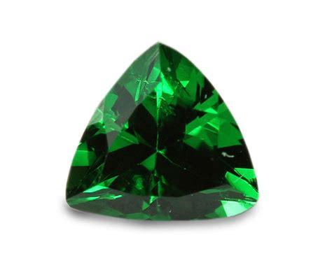 0 35 carats tsavorite gemstone trilliant