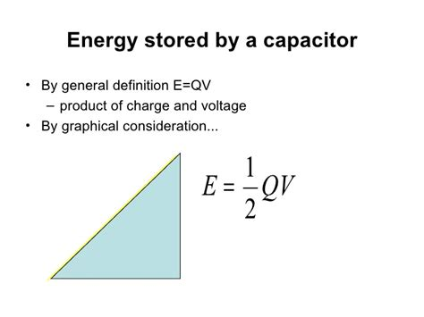 energy stored in a capacitor derivation energy stored by capacitor equation 28 images ppt capacitance and laplace s equation