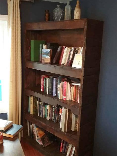 sturdy stylish pallet wood bookcase  pallets
