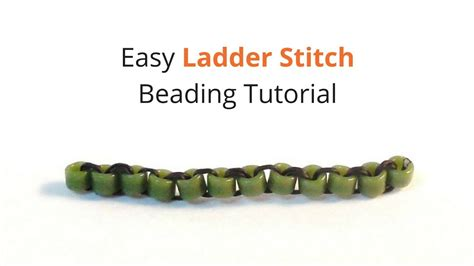 how to do ladder stitch beading easy ladder stitch beading tutorial