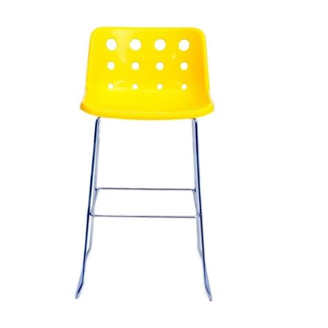 loft robin day skid yellow plastic polo bar stool by
