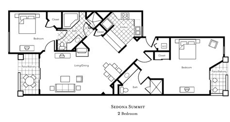 sedona summit resort floor plan tripbound com sedona summit