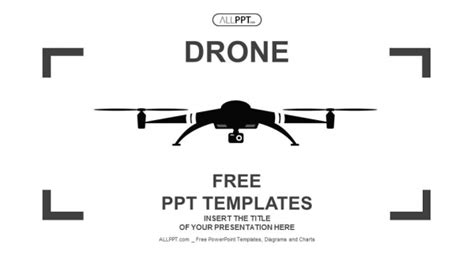Drone Service Report Template Drone Icon In Black Flat Style Powerpoint Templates