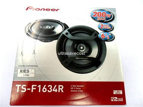 Promo Speaker Coaxial Pioneer Ts F1634r 2 Way Resmi Pio Distributor pioneer ts f1634r 6 5 quot 2 way coaxial car speakers 200w ebay