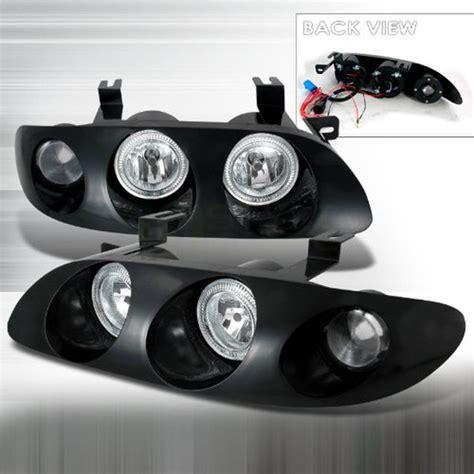 1993 mazda mx6 headlights 93 97 mazda mx6 black dual halo projector