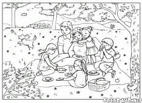 T&233l&233chargez Ou Imprimez La Page &224 Colorier Pique Niquer sketch template
